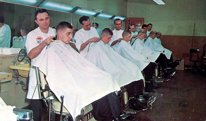 ... barber shop; Navy Recruit Depot Barber Shop;Navy Exchange Barber Shop